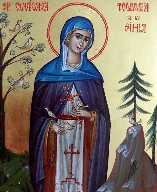 Acatistul Sfintei Teodora de la Sihla (7 august)