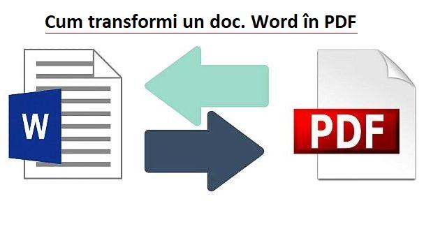 Cum transformi word in pdf sau jpg