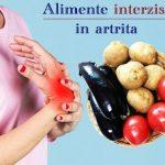 Alimente interzise in artrita
