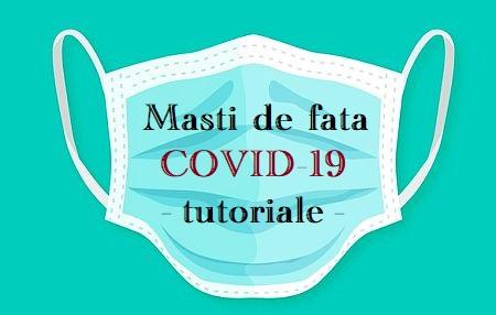 Masti de fata Coronavirus tutoriale