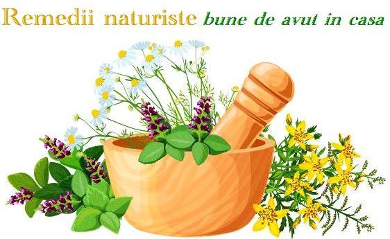 Remedii naturiste bune de avut in casa