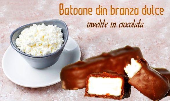 Batoane din branza cu glazura de ciocolata
