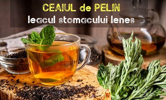 Ceai de pelin pentru stomacul lenes