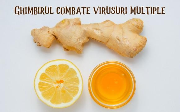 Ghimbirul combate virusuri multiple