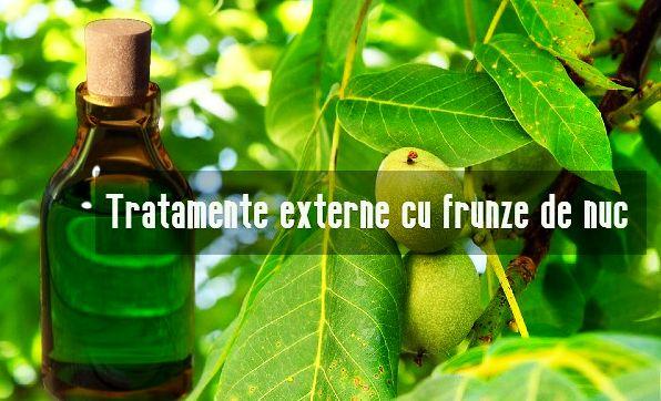Tratamente externe cu frunze de nuc