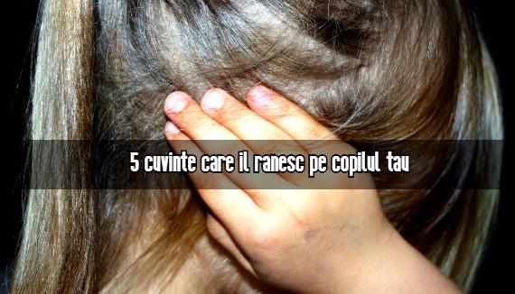 5 cuvinte care il ranesc pe copilul tau