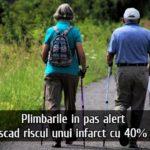 Miscarea fizica scade riscul unui infarct cu 40 de procente