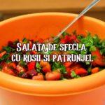 Salata de sfecla cu rosii si patrunjel