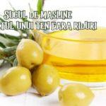 Suc de masline pentru riduri