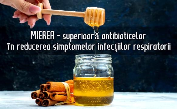 Mierea - superioara antibioticelor in infectiile respiratorii