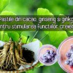 Pastile din cacao, ginseng si ginkgo pentru creier