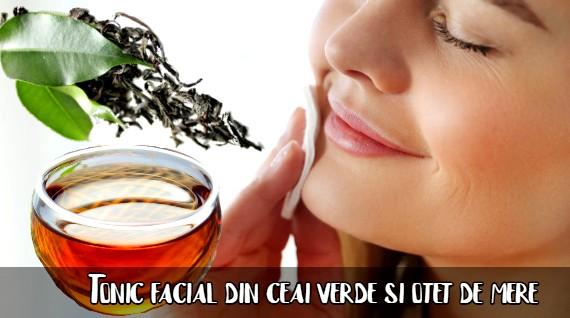 Tonic facial din ceai verde si otet