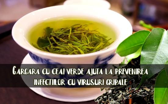 Gargara cu ceai verde contra racelilor