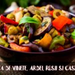 Salata de vinete, ardei, rosii, castraveti