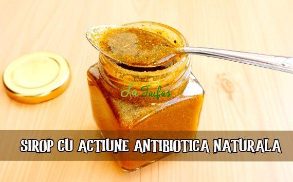 sirop antibiotic natural