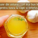 Lotiune din usturoi pentru tusea la copii si bebelusi reteta