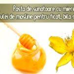 Pasta de sunatoare cu miere si ulei pentru ficat si bila