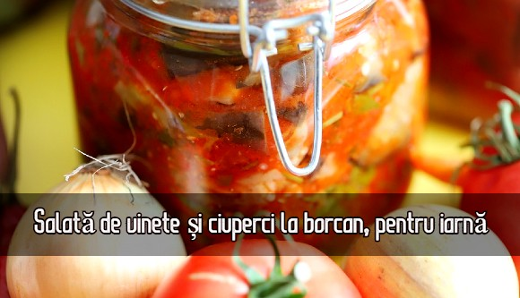 Salata de vinete si ciuperci pentru iarna