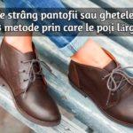 Solutie pentru papuci stramti
