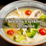 Supa de legume cu ciuperci si smanatana