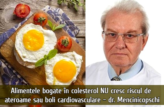 Alimentele bogate in colesterol NU cresc riscul de ateroame – dr. Mencinicopschi