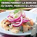Hering marinat cu ceapa, morcov