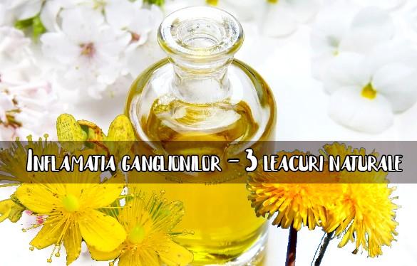 Inflamatia ganglionilor - 3 remedii naturiste