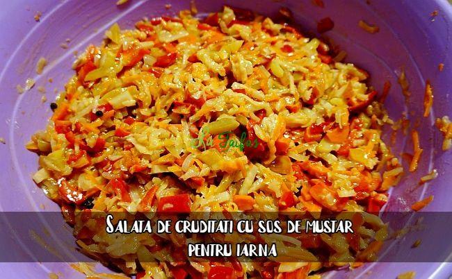Salata de cruditati cu sos de mustar