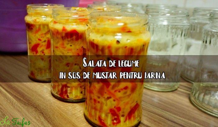 Salata de cruditati in sos de mustar pentru iarna