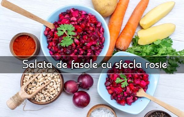 Salata de fasole cu sfecla rosie
