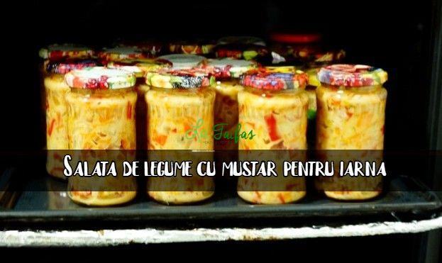Salata de legume cu mustar pentru iarna