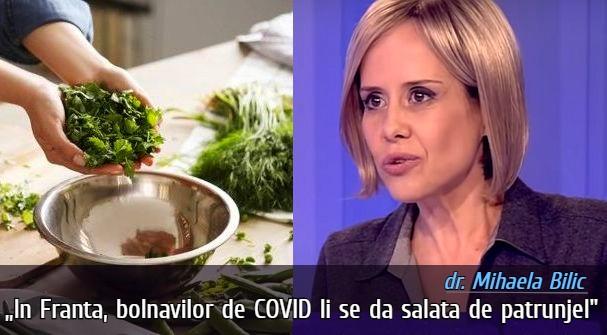 Salata de patrunjel pentru bolnavii de COVID