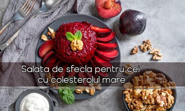 Salata de sfecla pentru cei cu colesterolul crescut