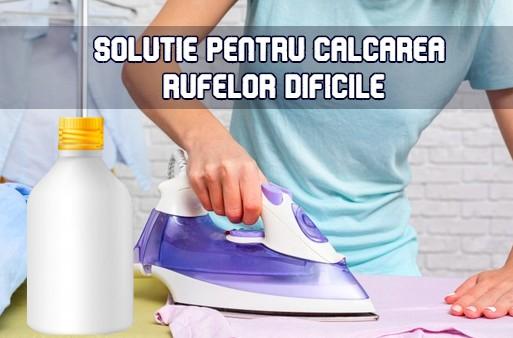 Solutie pentru calcarea rufelor