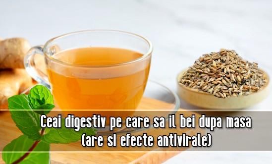 Ceai digestiv pe care sa il bei dupa masa (are si efecte antivirale!)