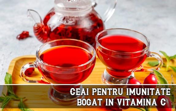 Ceai pentru imunitate, bogat in vitamina C