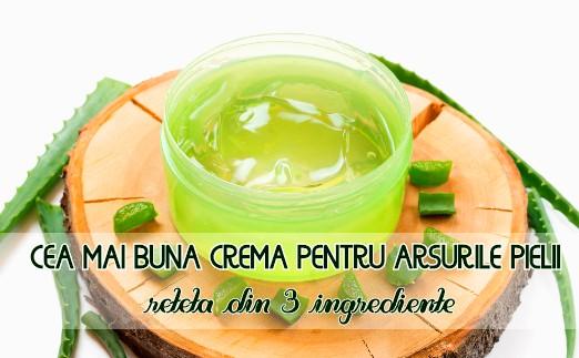 Crema pentru arsurile pielii din 3 ingrediente