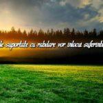 Necazurile suportate cu rabdare vor inlocui suferintele iadului