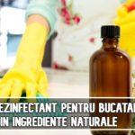 Spray dezinfectant pentru bucatarie, din ingrediente naturale