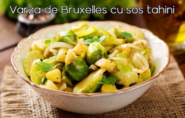 Varza de Bruxelles cu sos tahini