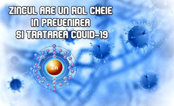 Zincul are un rol cheie in prevenirea si tratarea COVID-19
