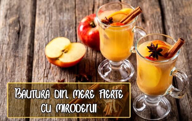 Bautura din mere fierte, cu mirodenii