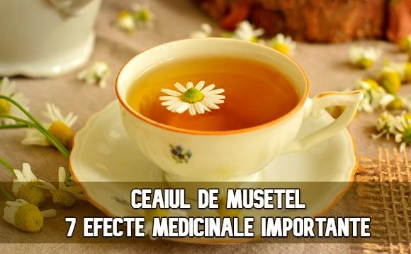 Ceaiul de musetel – 7 efecte medicinale importante