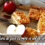 Prajitura de post cu mere si unt de arahide