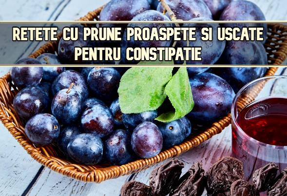 Retete cu prune pentru digestie si constipatie