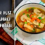 Supa de post, cu ciuperci champignon