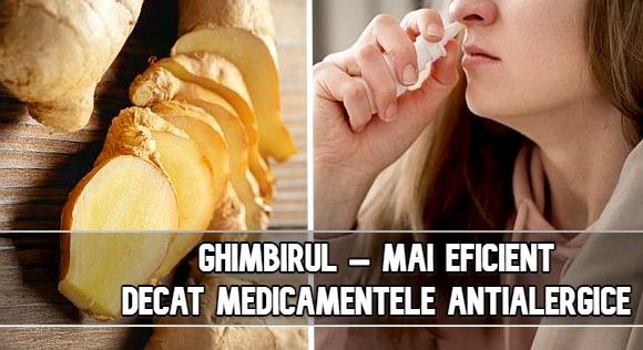 Ghimbirul – mai eficient decat medicamentele antialergice