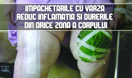 Impachetarile cu varza reduc inflamatia din orice zona a corpului