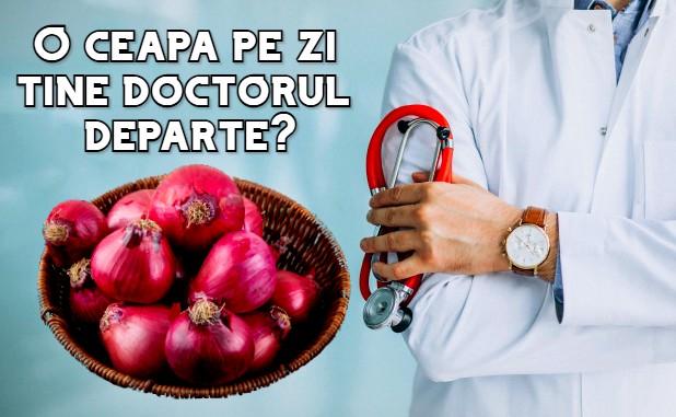 O ceapa pe zi tine doctorul departe?