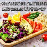 Recomandari alimentare in covid